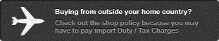 Buyiugn from outside your home country? Be sure to check out the shop policy because you may have to pay import Duty / Tax Charges