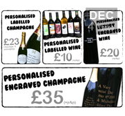 Personlise wine, spirits and champagne gifts