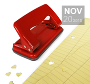 The heart shaped hole puncher gift