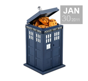The Doctor Who Tardis cookie jar gift