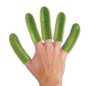 Slip your pickle cucumber fingers gift on