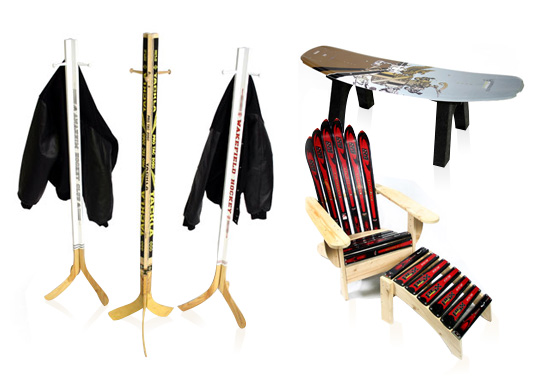 Furniture gifts made from Sports equipment
