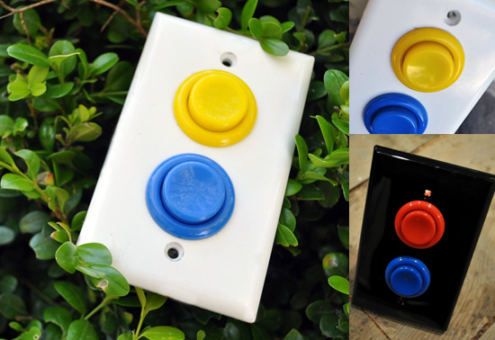 The arcade light switchplate gift