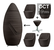 Nuevo's Stackable Capsule lounge chairs gift set