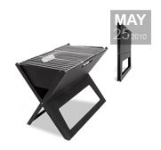 The fold flat table top barbecue gift by HotSpot