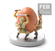 Meet the real egg soldiers gift by Reiko