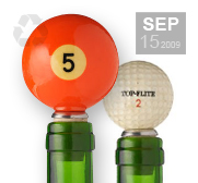 A sports fans recyclable bottle stopper gifts