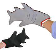 The shark bite oven mitt gift