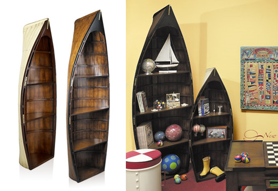 i-i to the Captain & Bosun Gig boat bookcase gift