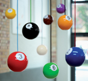 The wooden Pool ball pendant light by Pulz
