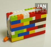 Colour By Numbers LEGO Brick Wallet gift