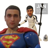 Add your face to a custom action figure gift