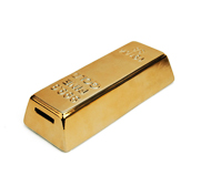 The gold bar coin bank gift