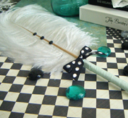 RubyDoll's Ostrich feather pen gifts