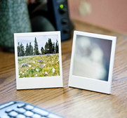 The Polaroid picture frame and mirror gift