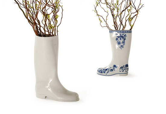 Qubus s Waterproof porcelian welly boot vase t