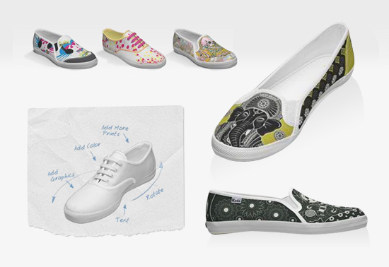 Create your own custom Keds footwear gifts