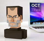 The Steve Jobs bust gift
