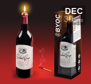 The B.Y.O.C. wine bottle candle gift