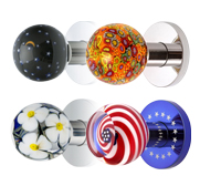Custom art glass doorknob gifts