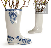 Qubus's Waterproof porcelian welly boot vase gift