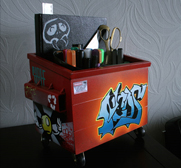 Steelplants graffiti desktop dumpster gifts