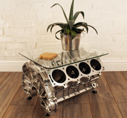 Jeremy V8 engine coffee table gift