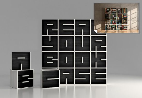 The ABC bookcase gift by Eva Alessandrini of Saporiti