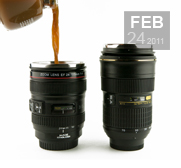 The camera lens mug gift by Photojojo