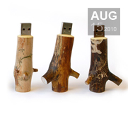 Cool wooden USB stick gifts by Oooms