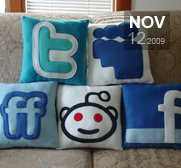 A Social Pillow gift from Craftsquatch