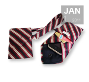 The recycled necktie wristlet wallet gift