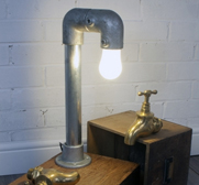 Agnes pipework table lamp gift