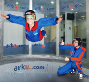 The Airkix sky diving on the ground gift