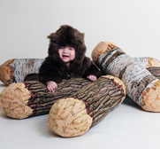 The cotton wood tree log pillow gift