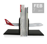The aircraft bookend gift by Bader Models