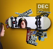 The skateboard mirror gift
