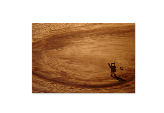 The Beautiful View astronaut chopping board gift