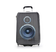 The Boombox travel suitcase gift by SuitSuit