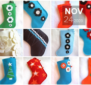 Get a custom made rickrak christmas stocking gift