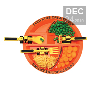The construction plate and utensils gift for kids