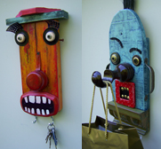 Helen and Sid the Folk Art key rack gift