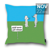 Dan Golden's cartoon pillow gift
