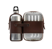 The leather strapped canteen and lunchbox set gift