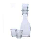 The French stacking carafe with glasses gift by Kaptein Roodnat
