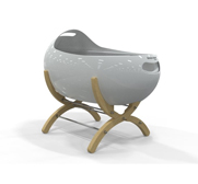 The Cascara modern Babycotpod crib gift