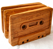 The Cassette tape door wedge gift by Square Pear Furniture