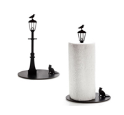 The cat and crow paper towel holder gift