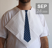 A gift to get dressed in for dinner, it's a necktie napkin!