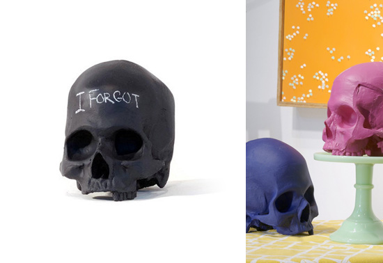 The chalkboard skull gift by iamhome